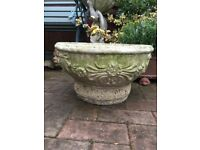 Lovely vintage weathered garden planter, pot