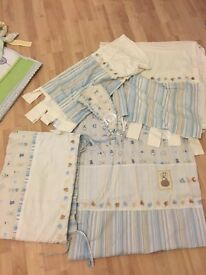 Bundle of baby's bedding