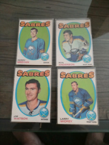 Lot if 4 1971-72 O Pee Chee Hockey Cards - Buffalo Sabres