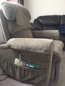 Leather Couch and Power Lift chair for sale Regina Regina Area image 1