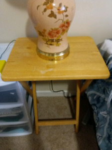 Folding Table (used as bedside table)