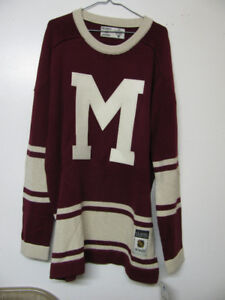 MONTREAL MAROONS ( MONTREAL CANADIENS ) WOOL HOCKEY JERSEY NWT