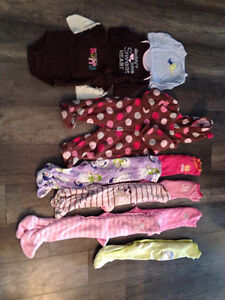 Girls 6-9 mos lot, mostly Carter's brand