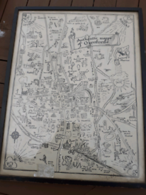 Vintage Comic Map Of Oxenford Signed By W. F BURROWS 1920