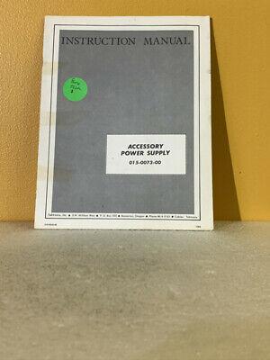 Tektronix 015-0073-00 Accessory Power Supply Instruction Manual