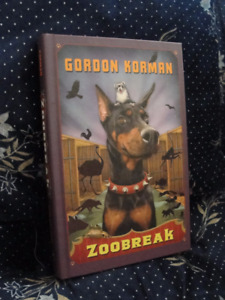 Zoobreak by Gordon Korman. Hardcover, Like new.