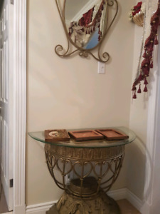 Table console avec miroir
