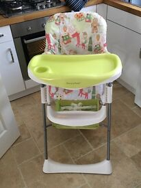 Mamas and Papas Zest Gingerbread feeding highchair