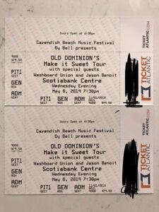 OLD DOMINION-Make it Sweet Tour- HALIFAX- MAY 8/19-FLOOR PIT TIX