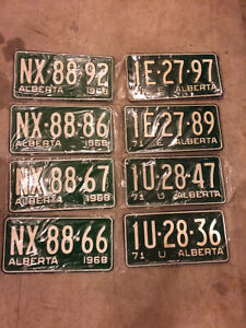 BRAND NEW STILL IN THE PLASTIC VINTAGE LICENSE PLATES 1968-1972