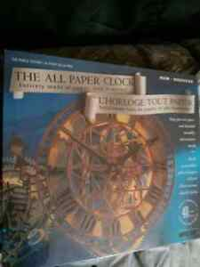 The all paper clock