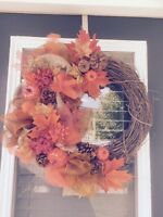 Beautiful fall wreaths