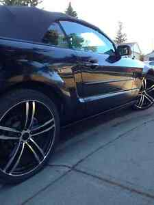 *2007 Black Mustang GT - Custom Rims.