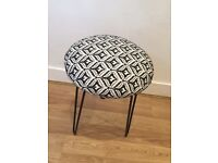 Black and white stool dressing table desk stool