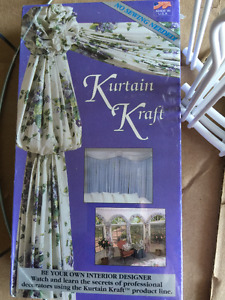 KURTAIN KRAFT, a window treatment kit, includes video & instruct