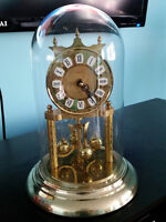 Brass and Glass Mantle Clock