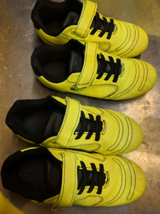 2 pair size 1 soccer cleats in excellent condition