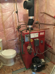 FURNACE, hot water tank and oil tank as per attached picture.