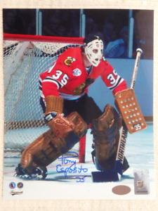 TONY ESPOSITO Chicago Blackhawks Autographed 8x10 Photo W/COA