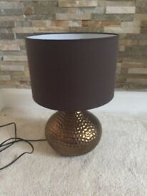 Gorgeous b&q bronze and brown table lamp