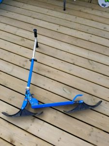 Kick scooter snow scooter