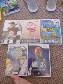 Wii games x 5, Terri's, Telly Addicts, Big Brain Academy, TV show King