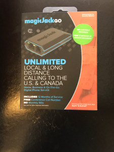 Magic Jack unlimited local and long distance calling