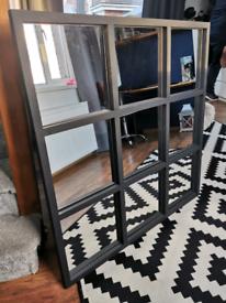 Window style mirror 102cm x 102cm