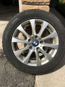 "BMW 3Series Pirelli Winter Tires with 16"" Replica Rims"