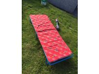 Folding camper guest bed