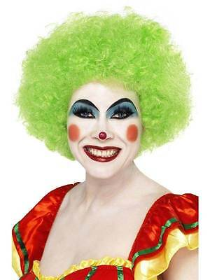 Pop Perücke, Clown / Zirkus / Afro, Grün, - Halloween Kostüme Afro Perücke