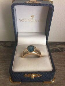 10K gold men's ring