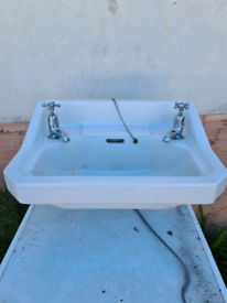 Old ceramic sink and taps