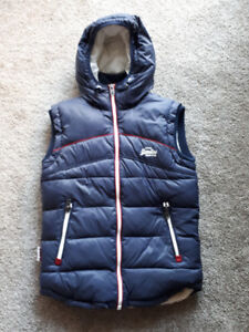 Superdry Blue Men's Gilet - Size Small - As New