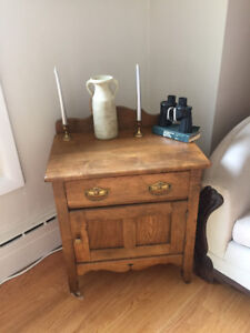 Turn of the century wash stand on wheels