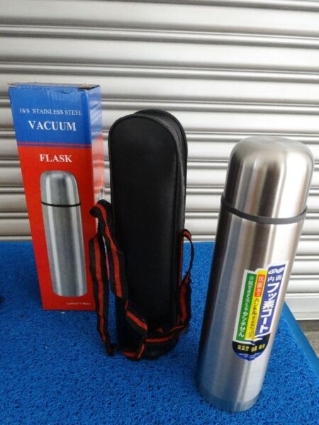 Stainless Steel 18-8 Vacuum Flask with casing
