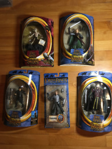LORD OF THE RINGS FIGURES NEW IN BOX. Unopened. Highly detailed.