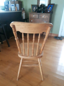 Pressed back chairs (6)