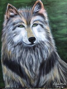 Oil painting - Alpha Wolfe