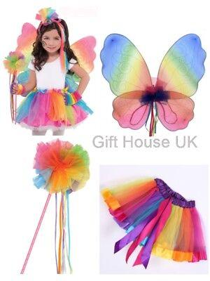 Regenbogen Band Fairy Schmetterling Tutu Flügel Wand Bein - Bogen Märchen Kostüme Zubehör