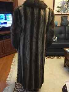 Raccoon Fur Full Length Coat