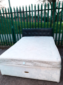 King bed with mattress (delivery available