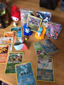 Pokemon cards and figures