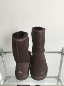 MENS NEW UGG Classic Brown Waterproof Leather Sheepskin Boots