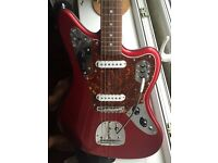 Fender Japan Candy Apple Jaguar with Staytrem Trem and Bridge Upgrade
