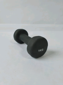 1kg Dumbbell Black Weight