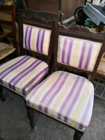 Pair of Antique chairs for refurbishment