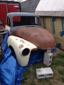 WANTED parts for 47-54 Chevy!!in woods or backyards!