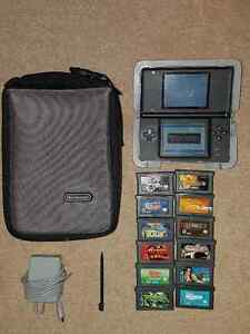 Black DS, 12 games and accessories!
