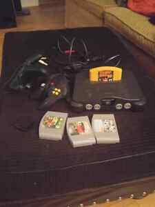 N64 with 2 controllers 4 games 100$